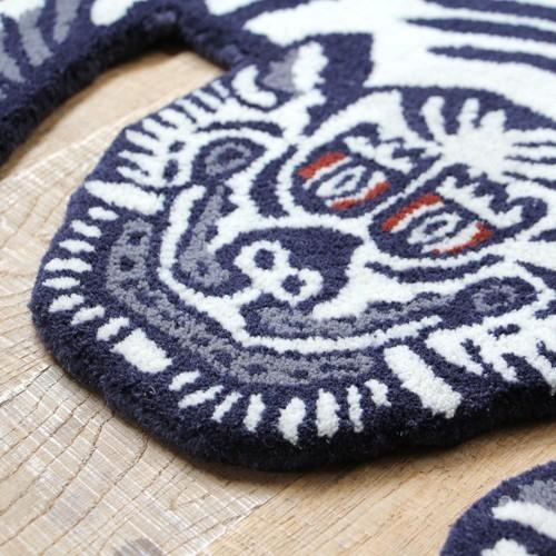 TIBETAN TIGER RUG WHITE SMALL (チベタン タイガー ラグ ホワイト スモール) 【送料無料】 【ポイント5倍】|flyers|05