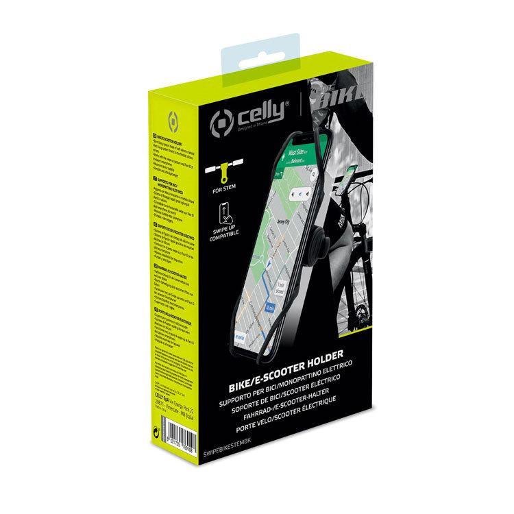 Celly SWIPEBIKE Holder SWIPEBIKE Holder Stem スマートフォンホルダ マウント 自転車 iPhone focalpoint 12