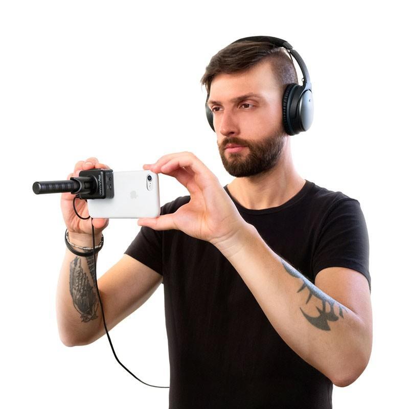 マイク IK Multimedia iRig Mic Video スマホにくっつくデジタル接続ショットガンマイク マイク本体 focalpoint 06