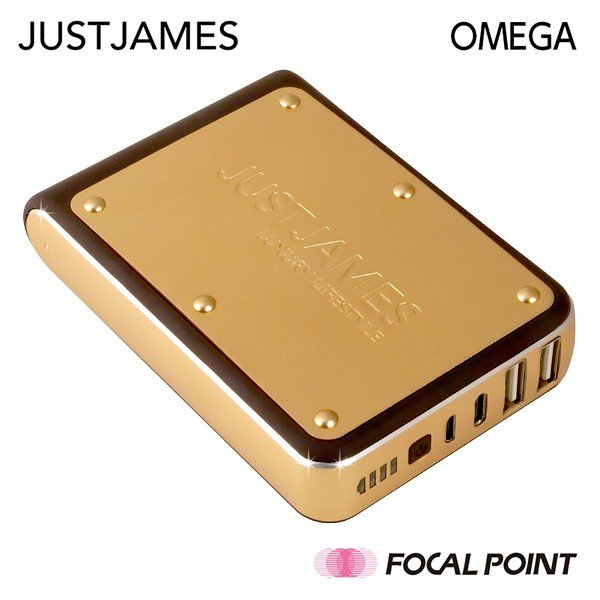 モバイルバッテリー JUSTJAMES OMEGA オメガ 10,400mAh 大容量 PSE focalpoint