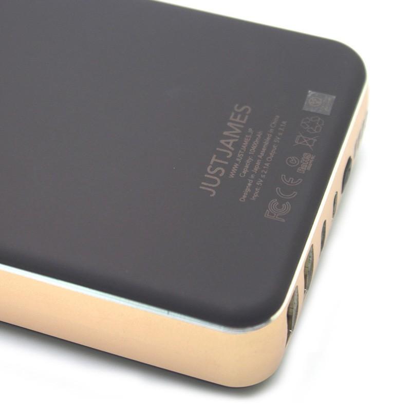 モバイルバッテリー JUSTJAMES OMEGA オメガ 10,400mAh 大容量 PSE focalpoint 04