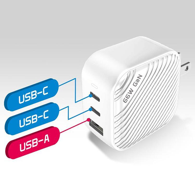 TUNEMAX 66W GaN 3ポート充電器 USB-C USB-A MacBook Surface iPhone Android|focalpoint|04