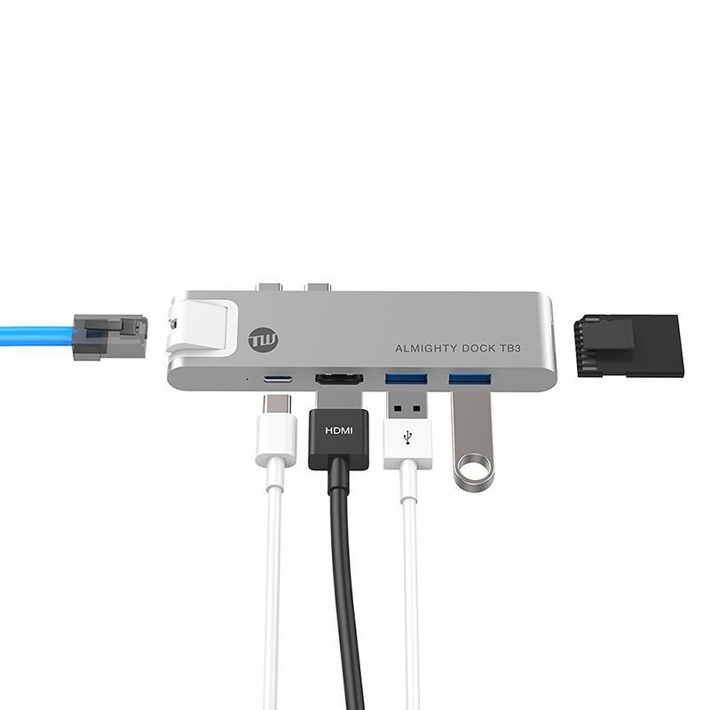 USBハブ TUNEWEAR ALMIGHTY DOCK TB3 for Macbook Pro/Air ドッキングステーション 全2種|focalpoint|08