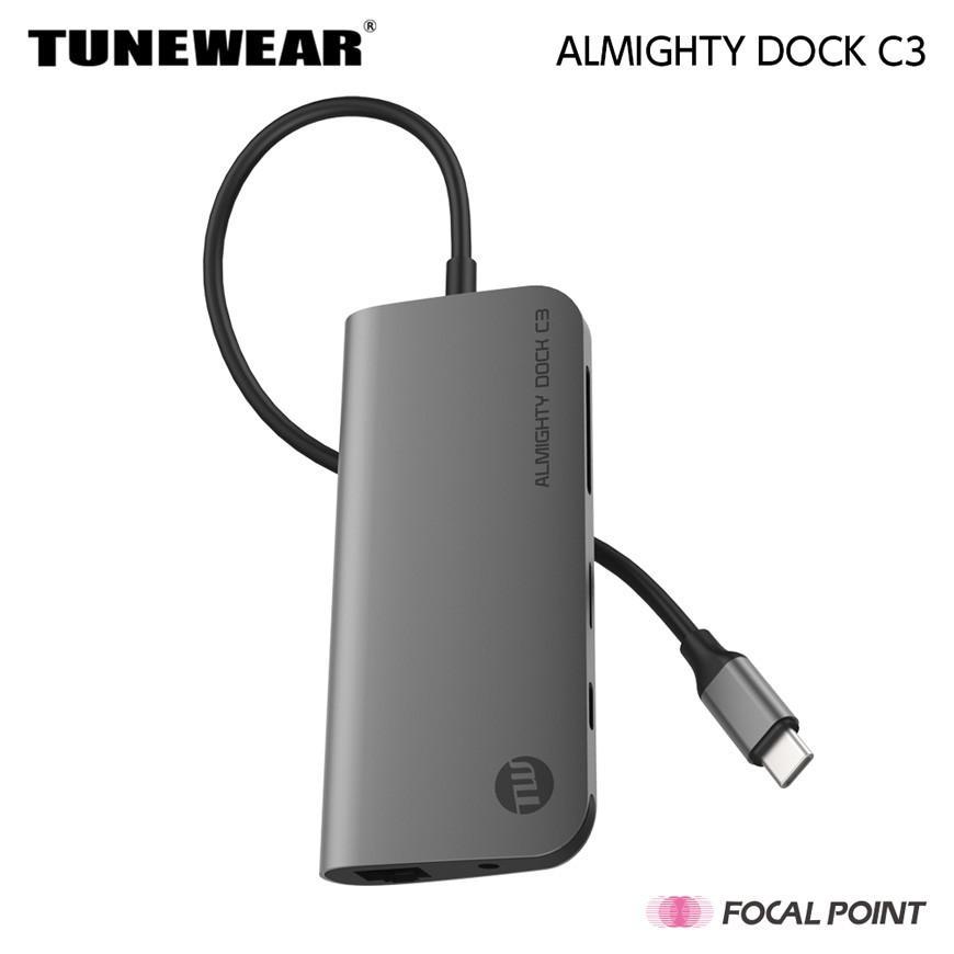 USBハブ TUNEWEAR ALMIGHTY DOCK C3 Ethernet HDMI 4K Mini DisplayPort PD対応 ドッキングステーション 全2種|focalpoint|03