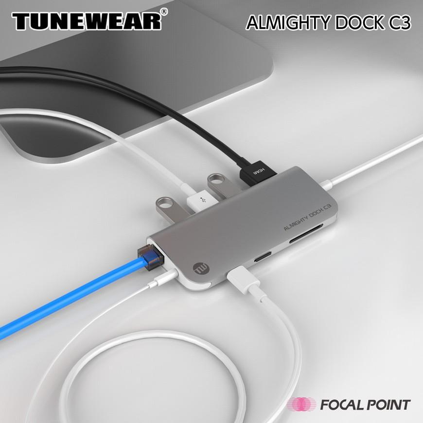 USBハブ TUNEWEAR ALMIGHTY DOCK C3 Ethernet HDMI 4K Mini DisplayPort PD対応 ドッキングステーション 全2種|focalpoint|05