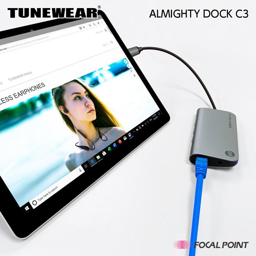 USBハブ TUNEWEAR ALMIGHTY DOCK C3 Ethernet HDMI 4K Mini DisplayPort PD対応 ドッキングステーション 全2種|focalpoint|07