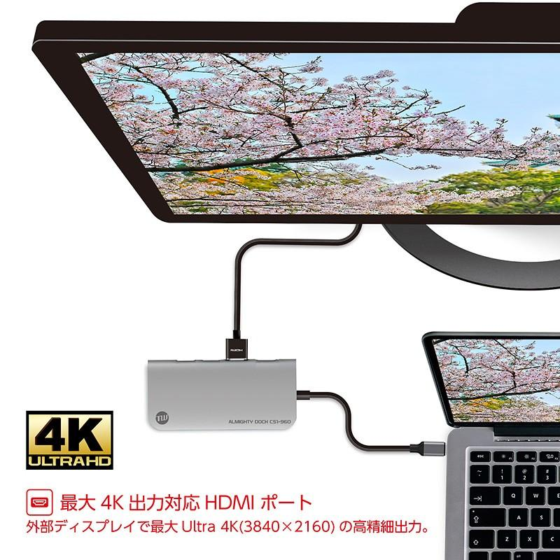 USBハブ TUNEWEAR ALMIGHTY DOCK CS1 120GB ストレ−ジ SSD HDMI 4K ドッキングステーション 全2種|focalpoint|07