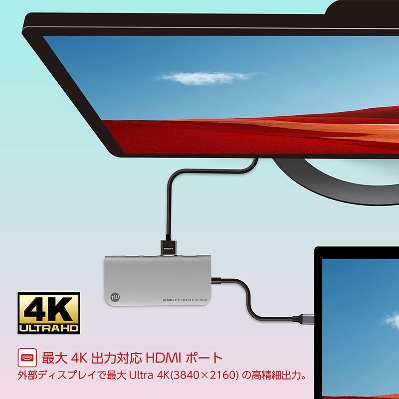 USBハブ TUNEWEAR ALMIGHTY DOCK CS1 960GB ストレ−ジ SSD HDMI 4K ドッキングステーション 全2種|focalpoint|06