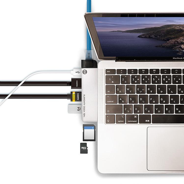 TUNEWEAR ALMIGHTY DOCK TB4 for Macbook Pro / Air 全2色 トリプルディスプレイ テレワーク ドッキングステーション focalpoint 08