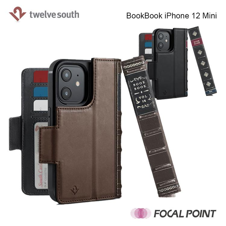 iPhone用ケース Twelve South BookBook iPhone 12 Mini 手帳型  ワイヤレス充電対応 全2種|focalpoint