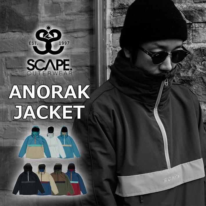 19-20 SCAPE エスケープ ANORAK JACKET アノラック ジャケット メンズ スノーボード スノーウェア