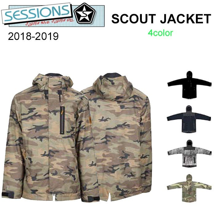 18-19 SESSIONS スノーボードウェア メンズ SCOUT JACKET スカウト ジャケット セッションズ スノボジャケット