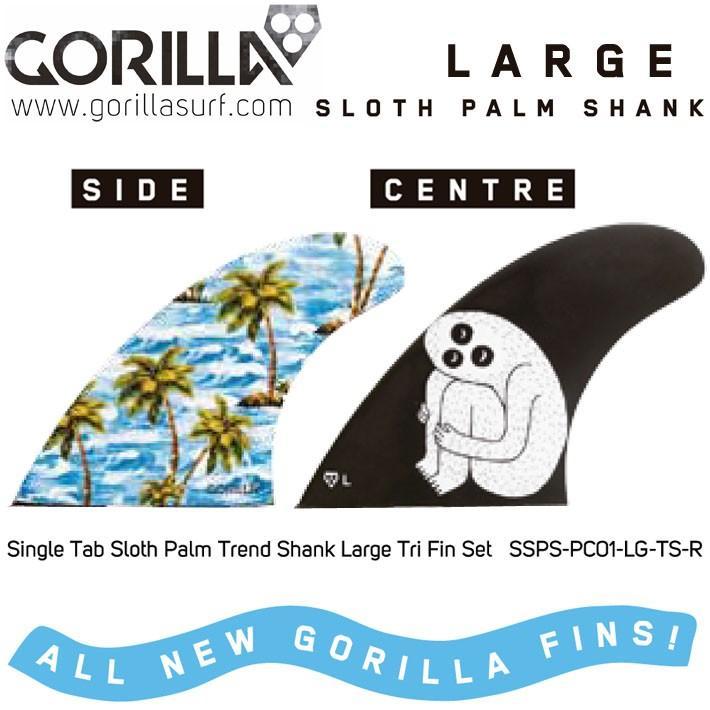 [現品限り特別価格] GORILLA ゴリラ フィン SLOTH PALM SHANK (FUTURE) (LARGE) トライフィン 3FIN スロース パーム シャンク