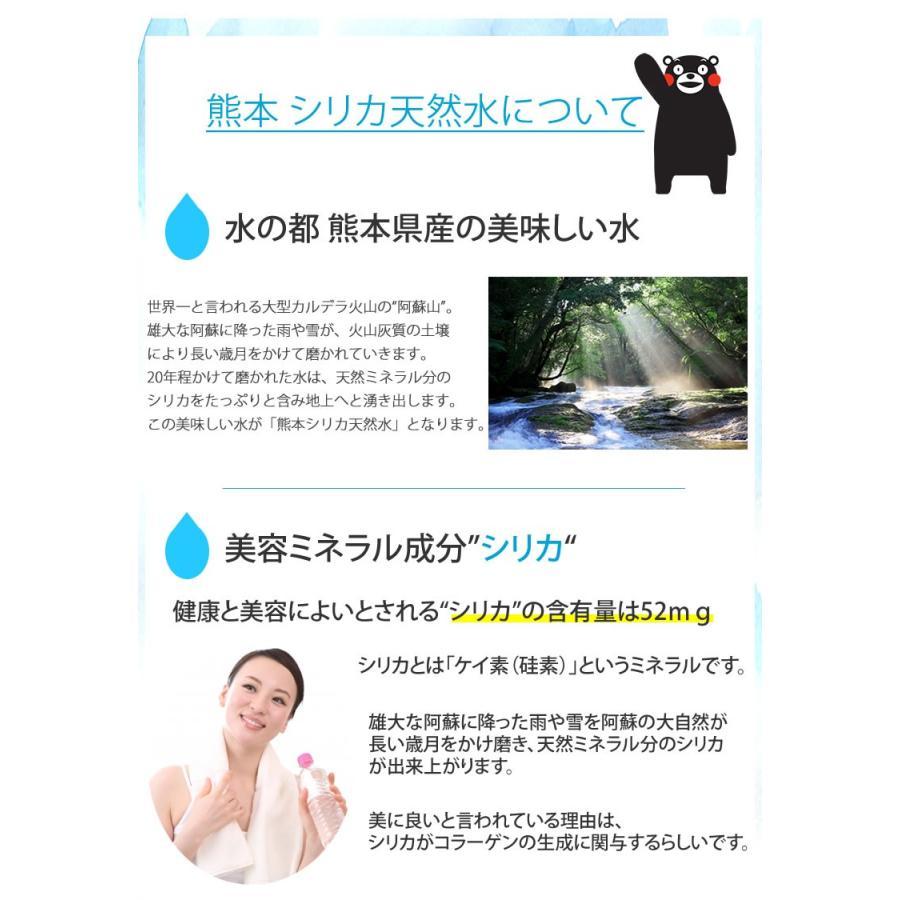 シリカ水 2L×10本 20L ミネラルウォーター 送料無料 くまもん 阿蘇外輪山天然優水 熊本シリカ天然水 シリカ 水 2リットル 美容 健康|foodys|05