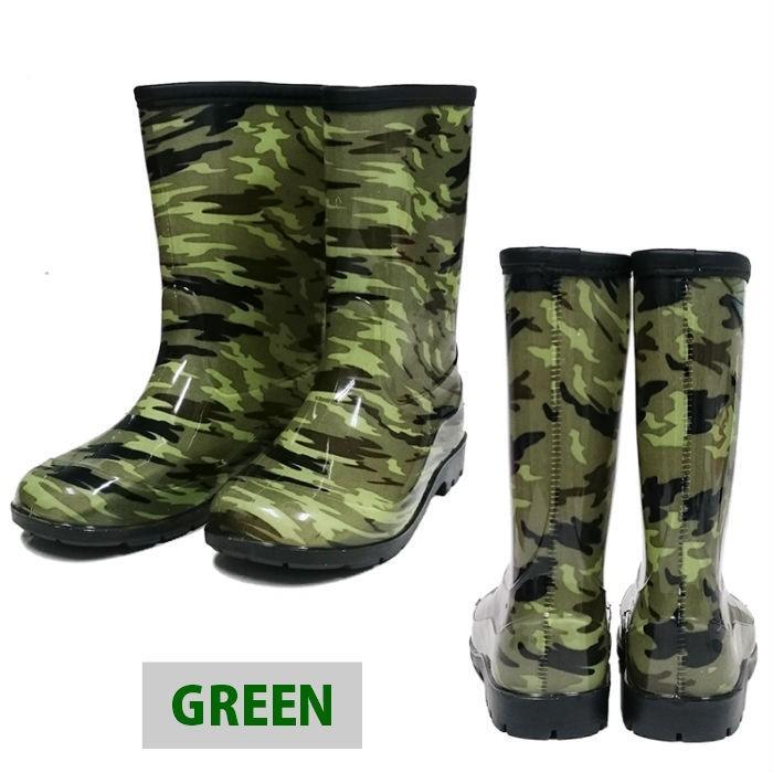 男児 メイサイ PVC レインブーツ 子供 男の子 長靴 迷彩柄 カモフラ 黒 緑 青 グレーの4色 foot-rain 12