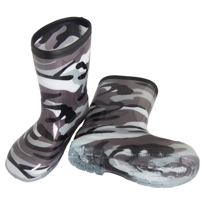 男児 メイサイ PVC レインブーツ 子供 男の子 長靴 迷彩柄 カモフラ 黒 緑 青 グレーの4色 foot-rain 10