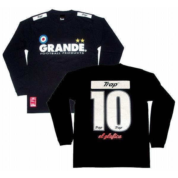 GRANDE プロトタイプ(グリッターロゴ) ロングスリーブ(長袖)Tシャツ/ブラック
