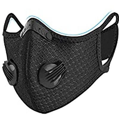 Fortune Sports Mask エアバルブ付きスポーツマスク ブラック PM2.5ウイルス花粉対応 洗える ムレない フィルター1枚付き for-tune-shop 08