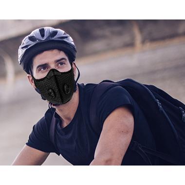 Fortune Sports Mask エアバルブ付きスポーツマスク ブラック PM2.5ウイルス花粉対応 洗える ムレない フィルター1枚付き for-tune-shop 09