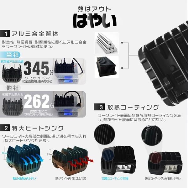 大セール! 4個 LED作業灯 ワークライト 45W OSRAM製チップを凌ぐ 3面発光 led投光器 IP67防水 補助灯 トラック 集魚灯 12V 24V ledライト 1年保証 TD03|force4future|03