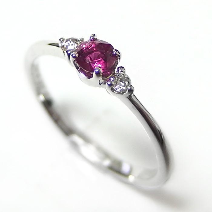 【超歓迎された】 ルビー ダイヤモンド リング K18 ホワイトゴールド ルビー0.22ct ダイヤ0.05ct ルビー ダイヤ 指輪 限定1点限り 即納, 杜森プラザ 100dd695