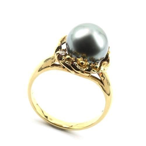 当社の K18 ダイヤ パワーストーン 黒真珠(パール) 宝石リング#12〔 宝石リング#12〔 天然石 K18 パワーストーン アクセサリー 〕, びーちのーす:a68fee74 --- airmodconsu.dominiotemporario.com