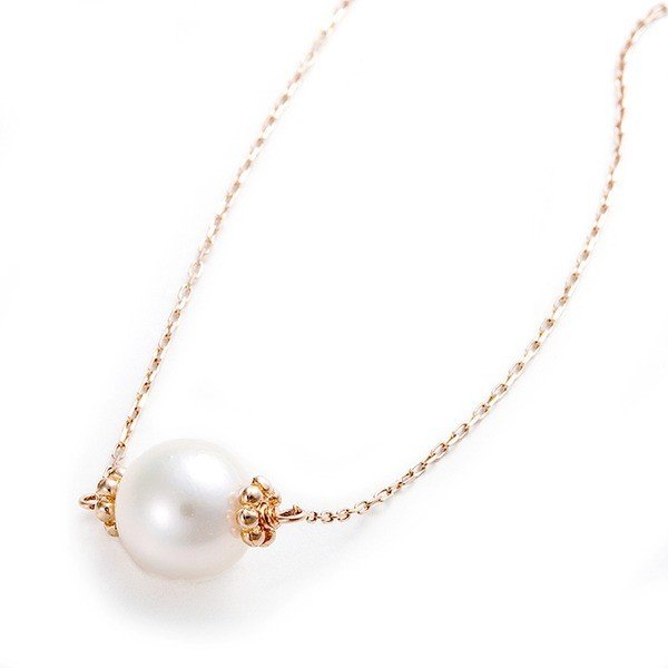 新品入荷 アコヤ真珠 ネックレス K10 ピンクゴールド 約7mm 約7ミリ 40cm 長さ調節可能(アジャスター付き) 真珠 あこや真珠, JIGGYS SHOP 0e298d23