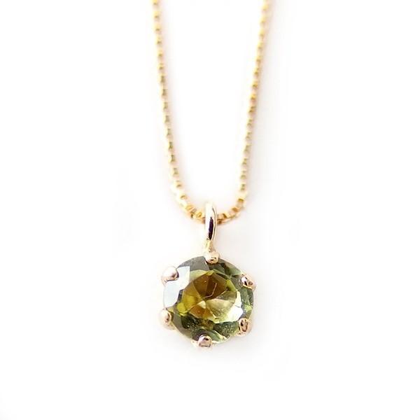 流行 ネックレス ペリドット K18 イエローゴールド 8月 誕生石 一粒 シンプル プチネックレス ペンダント, 本物保証!  c9a2d9db