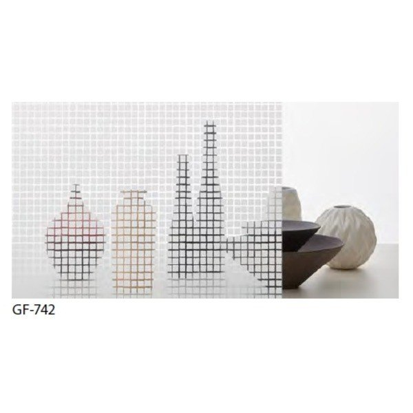 幾何柄 飛散防止ガラスフィルム サンゲツ GF-742 92cm巾 7m巻 幾何柄 飛散防止ガラスフィルム サンゲツ GF-742 92cm巾 7m巻