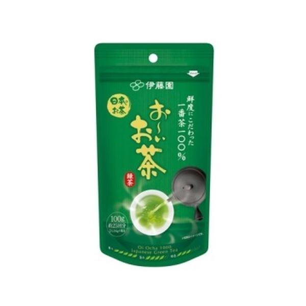 (まとめ)伊藤園 おーいお茶 一番茶摘み緑茶 1袋(100g)〔×5セット〕