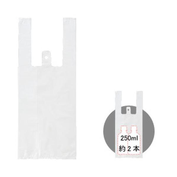 レジ袋(乳白) 1パック/100枚 SS 1箱(80パック)
