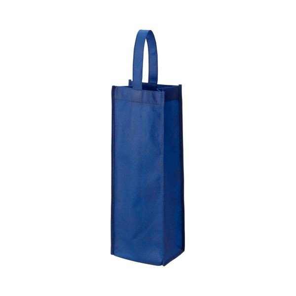 (まとめ) TANOSEE 不織布ワイン袋 ヨコ130×タテ370×マチ幅85mm ネイビー 1パック(10枚) 〔×10セット〕
