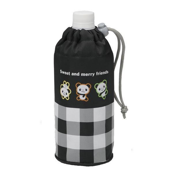 (まとめ)ペットボトル カバー るんるんパンダ 〔240個セット〕