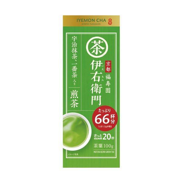 (まとめ)宇治の露製茶 伊右衛門 抹茶入り煎茶100g/袋 1セット(3袋)〔×5セット〕