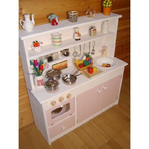 木のおもちゃ おままごと キッチン 誕生日 2歳 3歳 4歳 5歳 6歳 女  ワイドタイプ オフホワイトピンク