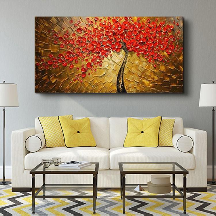 油絵 絵画 手描き 肉筆 寝室 玄関 飾り 壁掛けインテリア美術品  風景絵 木の絵 印象派 forestjapan