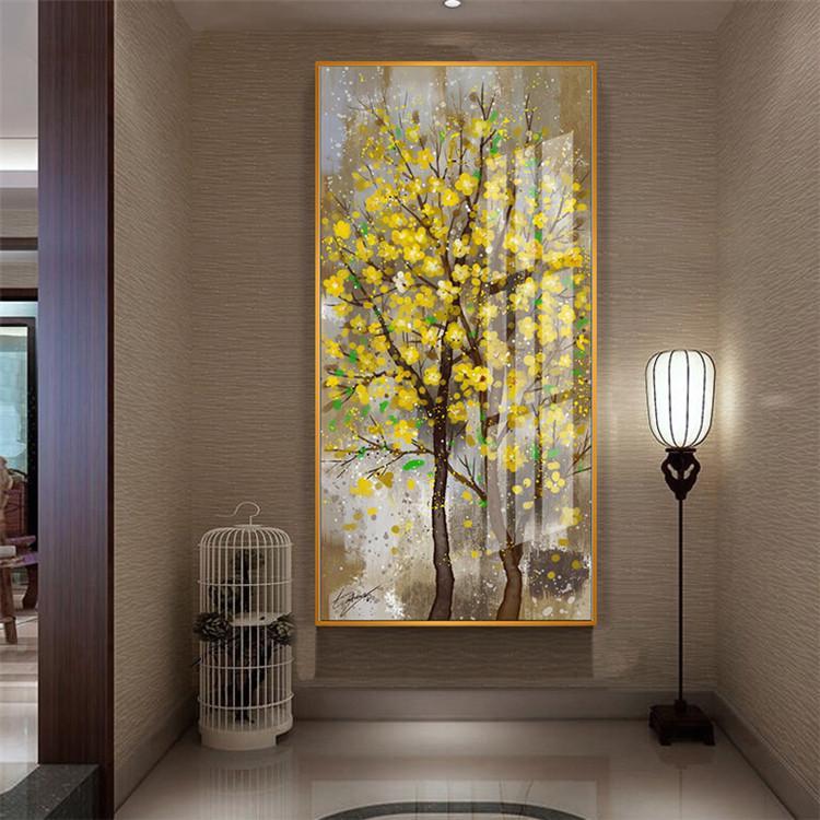 油絵 絵画 寝室 玄関 飾り 壁掛け インテリア美術品 風景絵 木の絵 印象派額装|forestjapan|04