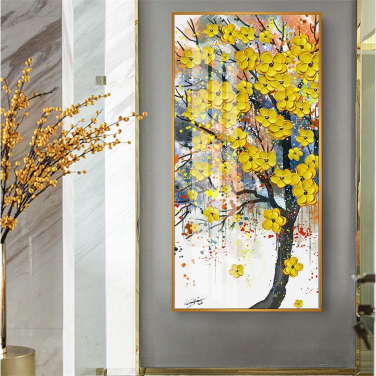 油絵 絵画 寝室 玄関 飾り 壁掛け インテリア美術品 風景絵 木の絵 印象派額装|forestjapan|05
