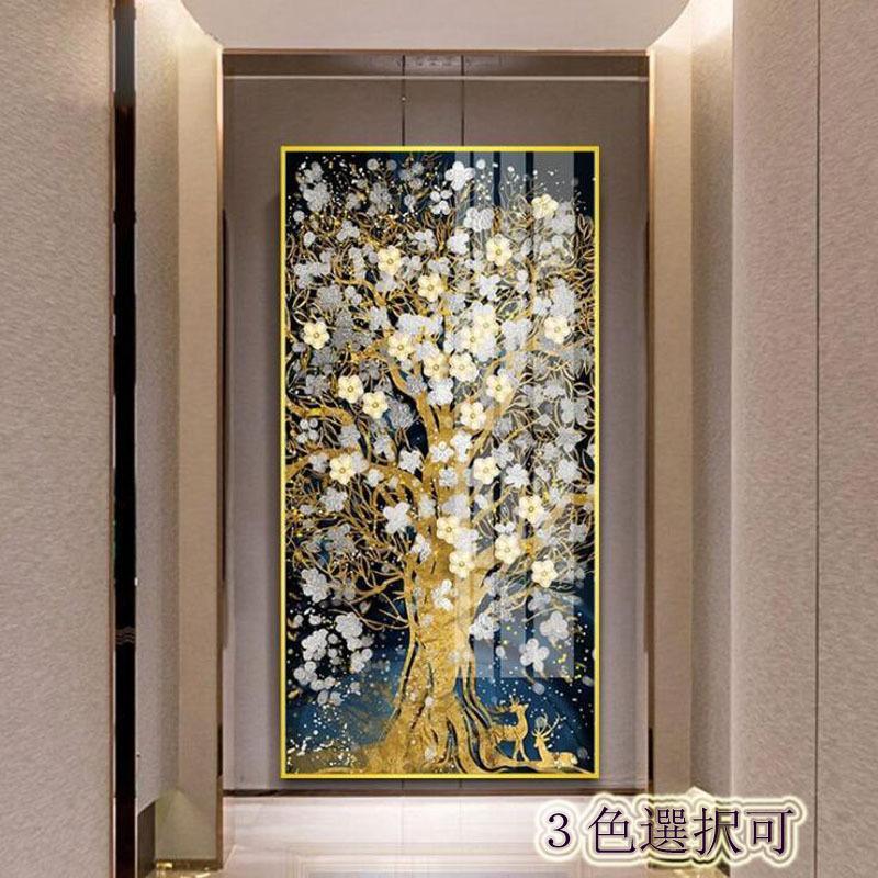 絵画 油絵 壁掛け 木の絵画 アートパネル 額つき インテリア 美術品 寝室 玄関飾り  撥水 縁起物 北欧風 forestjapan