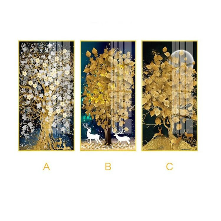 絵画 油絵 壁掛け 木の絵画 アートパネル 額つき インテリア 美術品 寝室 玄関飾り  撥水 縁起物 北欧風 forestjapan 02