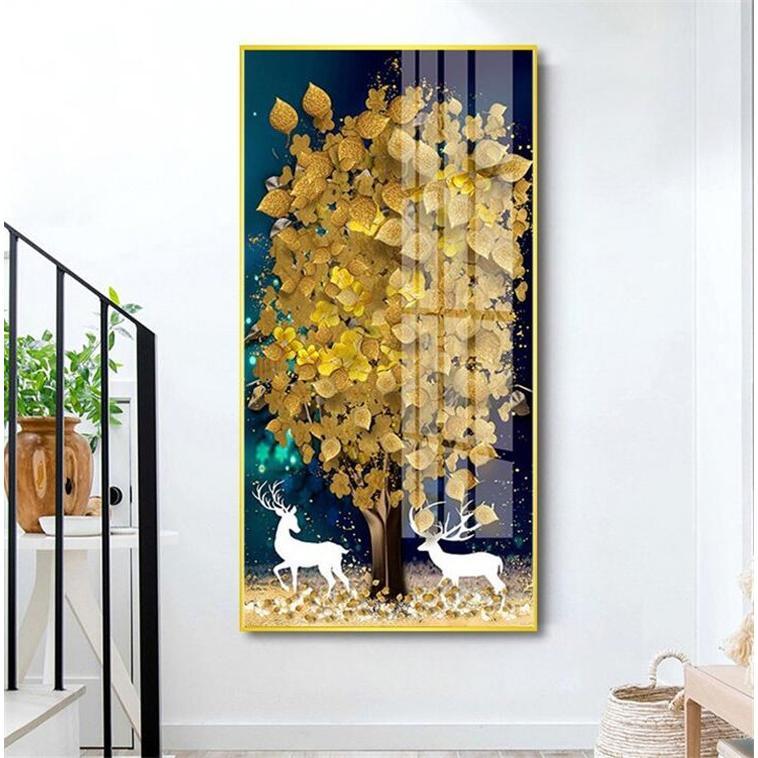 絵画 油絵 壁掛け 木の絵画 アートパネル 額つき インテリア 美術品 寝室 玄関飾り  撥水 縁起物 北欧風 forestjapan 05