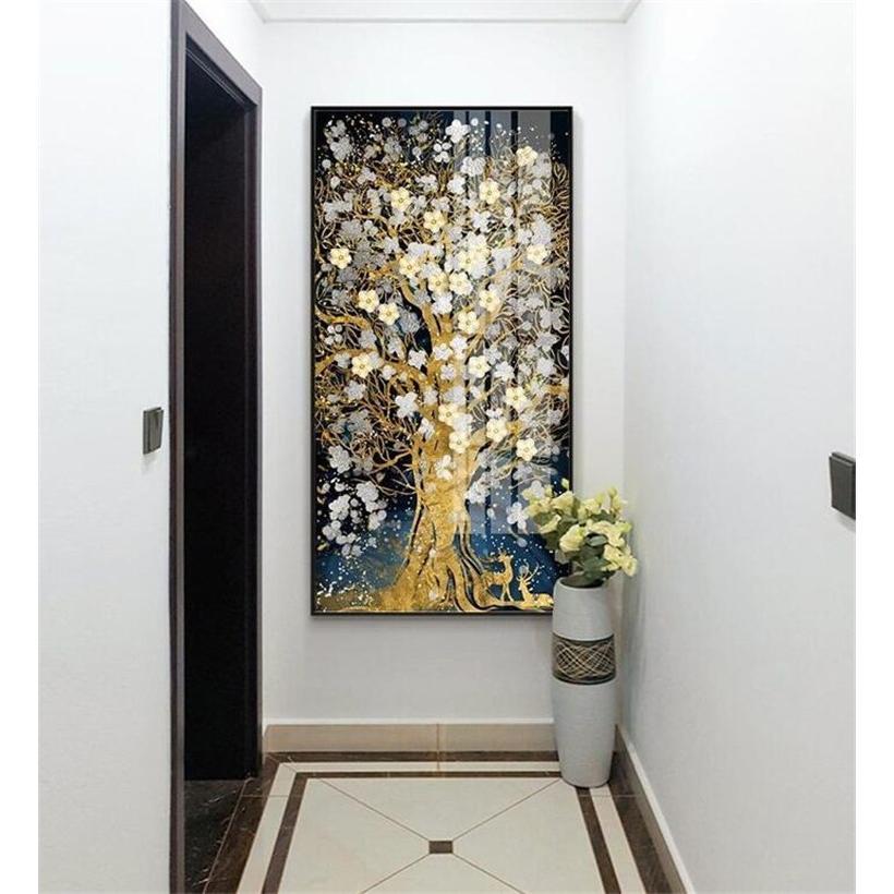 絵画 油絵 壁掛け 木の絵画 アートパネル 額つき インテリア 美術品 寝室 玄関飾り  撥水 縁起物 北欧風 forestjapan 06