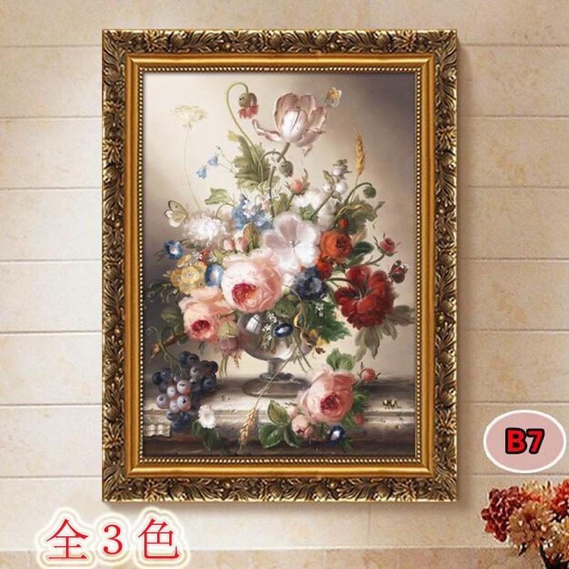絵画 油絵 壁掛け 花の絵画 アートパネル 額つき インテリア 美術品 寝室 玄関飾り  撥水 縁起物 北欧風 forestjapan