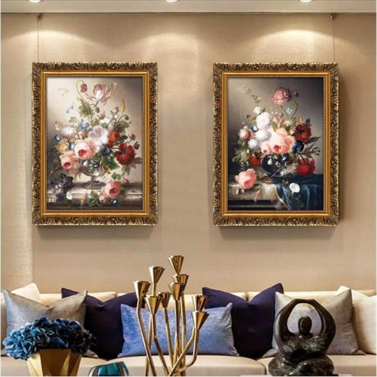 絵画 油絵 壁掛け 花の絵画 アートパネル 額つき インテリア 美術品 寝室 玄関飾り  撥水 縁起物 北欧風 forestjapan 02