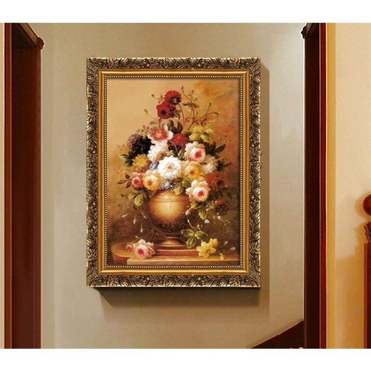 絵画 油絵 壁掛け 花の絵画 アートパネル 額つき インテリア 美術品 寝室 玄関飾り  撥水 縁起物 北欧風 forestjapan 05