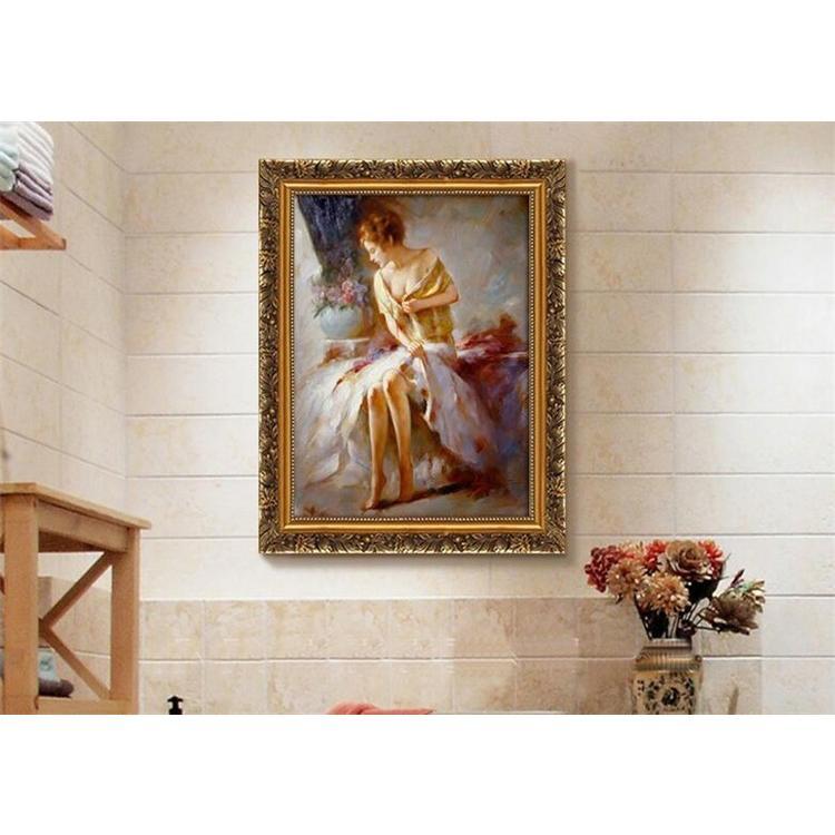 絵画 油絵 壁掛け 花の絵画 アートパネル 額つき インテリア 美術品 寝室 玄関飾り  撥水 縁起物 北欧風 forestjapan 06