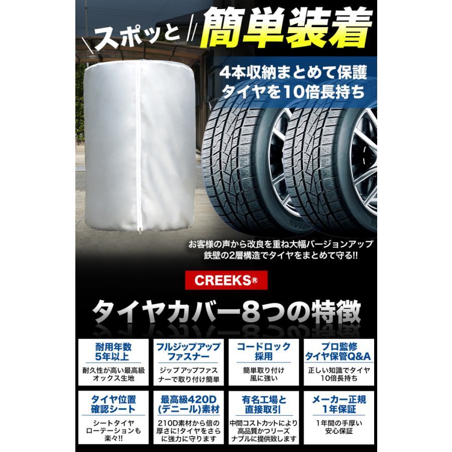 改良版タイヤカバー 車 屋外 防水 紫外線 3年耐久 タイヤ 保管QA集 位置シート 収納袋 付属 <正規1年保証> Mサイズ 73×110cm (SUVサイズ)|forestoyc|03