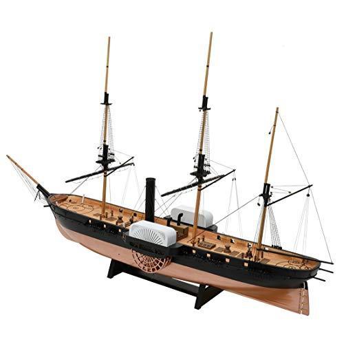 ウッディジョー 1/120 黒船 サスケハナ 木製模型 組立キット