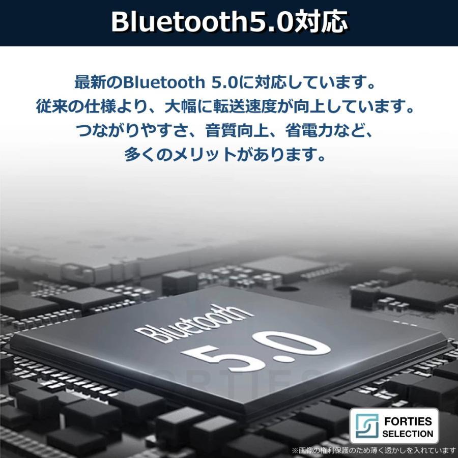 ワイヤレスイヤホン Bluetooth 5.0 防水 両耳 IPX5 ブルートゥース iPhone Android 充電ケース コンパクト ワイヤレス 小型 長時間 ポータブル|forties|03