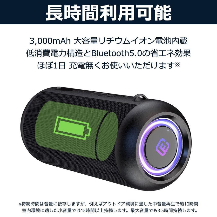 Bluetoothスピーカー ワイヤレス 高音質 大音量 重低音 防水 ゲーミング SDカード LED ハンズフリー お風呂 スマホ iPhone Android 40s CW1L forties 10